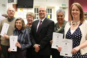 Adult winners at the Tales of Eltham event